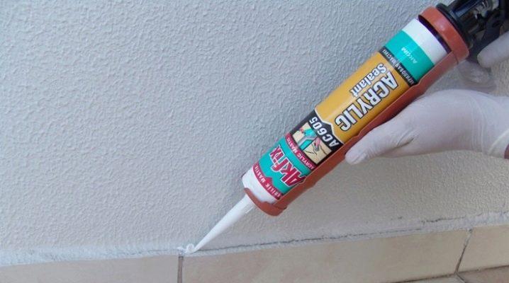 Акриловый герметик: белый состав для заделки швов, применение коричневой и  цветной продукции, отзывы о смеси «Акцент» 117 и 136