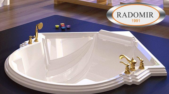 Ванны Radomir: популярные модели