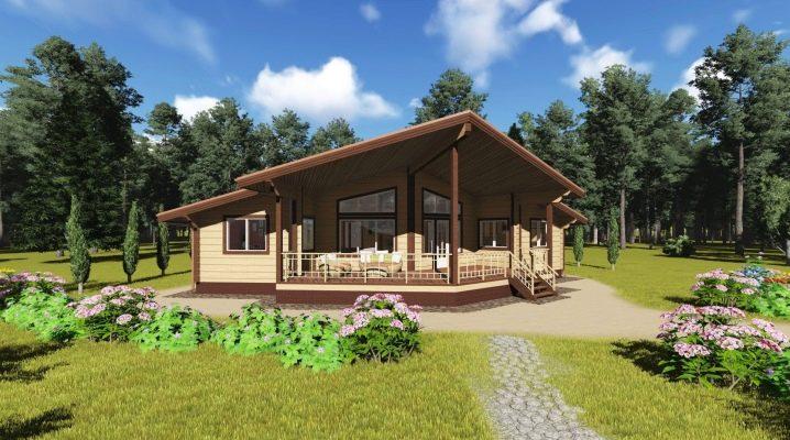Чертежи и схемы строительства одноэтажных домов из бруса