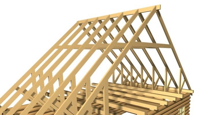 Как крепить стропила двускатной крыши