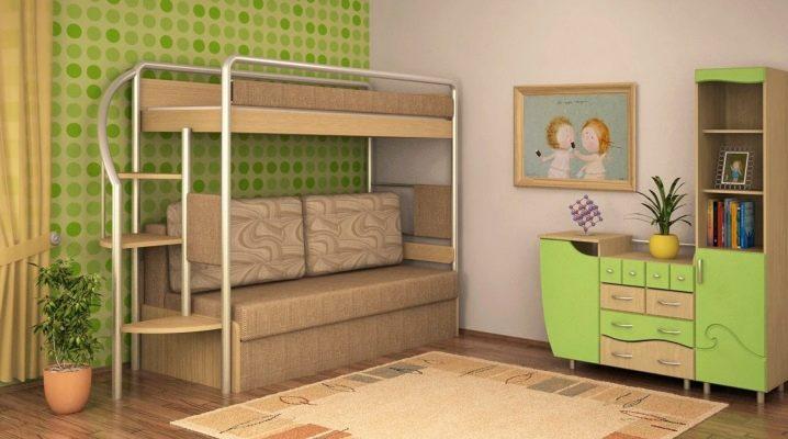 Двухъярусные детские кровати с диваном