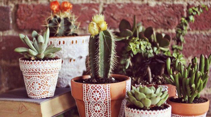 Декор цветочных горшков своими руками