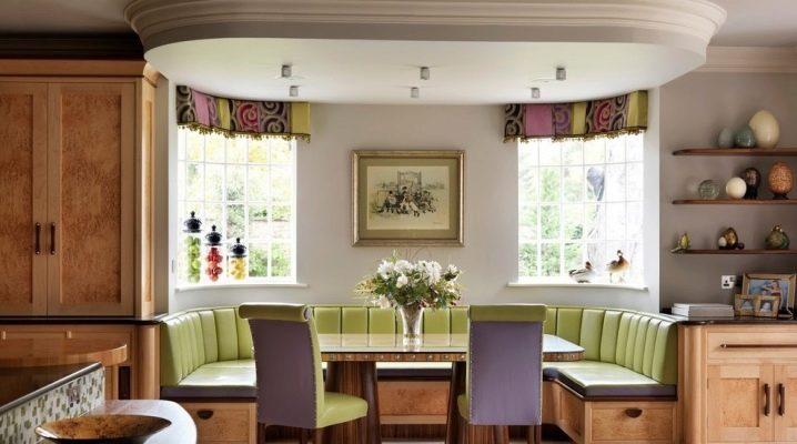 Эркерные диваны на кухню: особенности, дизайн и советы по выбору