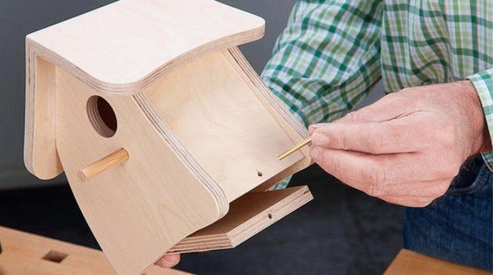 Как украсить деревянный скворечник