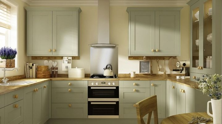Оливковые кухни: особенности, сочетание цветов и стилистика