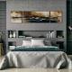Серо-голубая спальня