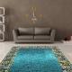 Бирюзовые ковры: яркие решения в интерьере
