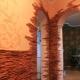 Отделка арки декоративным камнем