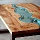 Стол-река: необычные идеи дизайна
