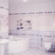 Сиреневая плитка: стильный дизайн интерьера