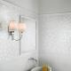Белая мозаика в интерьере квартиры и дома