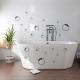 Наклейки на плитку в ванную комнату: особенности и варианты применения декора