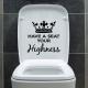 Наклейки в туалет: виды и дизайнерские решения