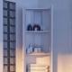 Угловые пеналы в интерьере ванных комнат: преимущества моделей и советы по выбору