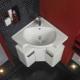 Выбираем угловую раковину с тумбой в ванную комнату