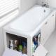 Экраны под ванну с полками для хранения бытовой химии: особенности конструкции и способы установки