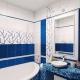 Как выбрать плитку для ванной комнаты в синих тонах?