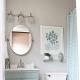 На какой высоте вешать зеркало над раковиной в ванной?