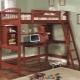 Детская кровать-чердак с рабочей зоной – компактный вариант с письменным столом