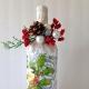 Как сделать новогодние украшения на бутылку своими руками?