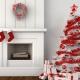 Как украсить белую елку?