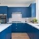 Бело-синие кухни