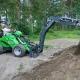 Экскаваторные установки на мини-трактор: тонкости выбора и эксплуатации