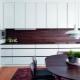 Фартуки из ламината для кухни: характеристика и дизайн