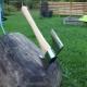Изготовление топора из рельса