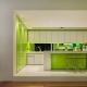 Кухни в бело-зеленых тонах