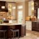 Кухни в коричнево-бежевых тонах