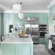 Мятная кухня в дизайне интерьера