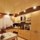 Потолок из гипсокартона на кухне: виды, формы и дизайн