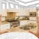 Размеры угловых кухонь
