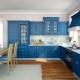 Синие кухни в интерьере