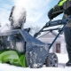 Снегоуборщики GreenWorks: характеристики и модельный ряд