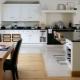 Стильные идеи для комбинирования плитки и других материалов на кухне