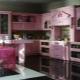 Выбираем розовую кухню