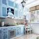 Голубая кухня в дизайне интерьера