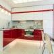 Красно-белая кухня в дизайне интерьера