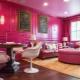 Розовый цвет в интерьере и его сочетания