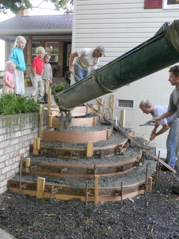 Как сделать полукруглое крыльцо из бетона своими руками фото 19