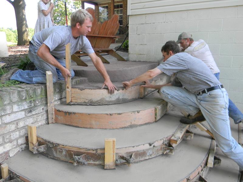 Как сделать полукруглое крыльцо из бетона своими руками фото 92