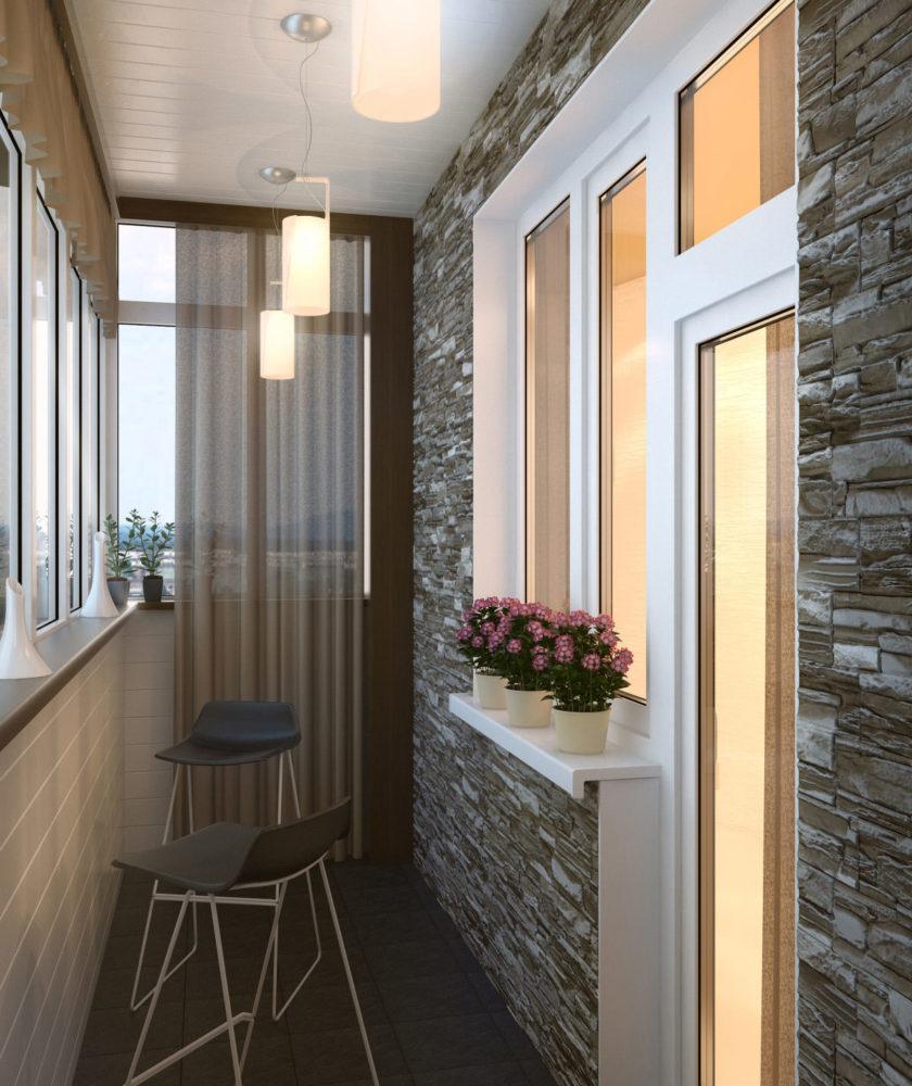 Отделка и дизайн балконов в хрущевке: интересные идеи (80 фо.