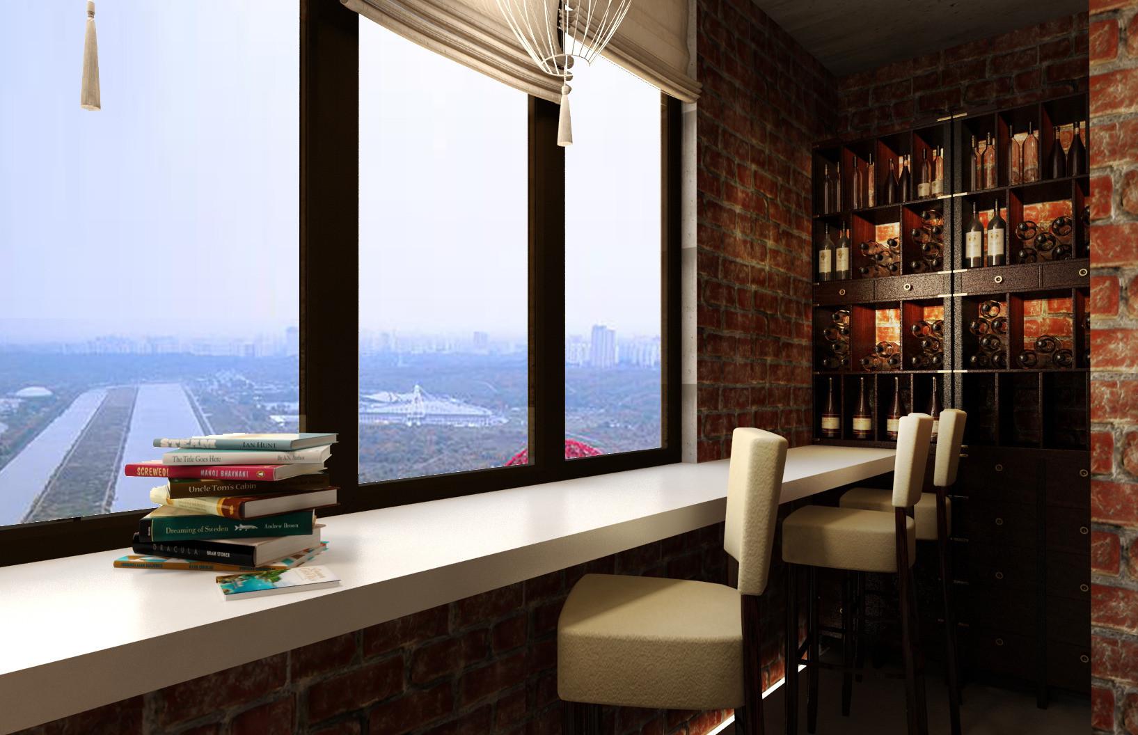 фото на балконе барная стойка
