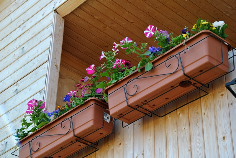 Как сделать кашпо для цветов на балкон.