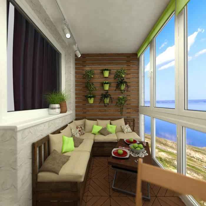 Дизайн балкона (175 фото): внутренний интерьер 3-метрового б.