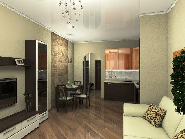дизайн квартиры студии 26 кв м 7