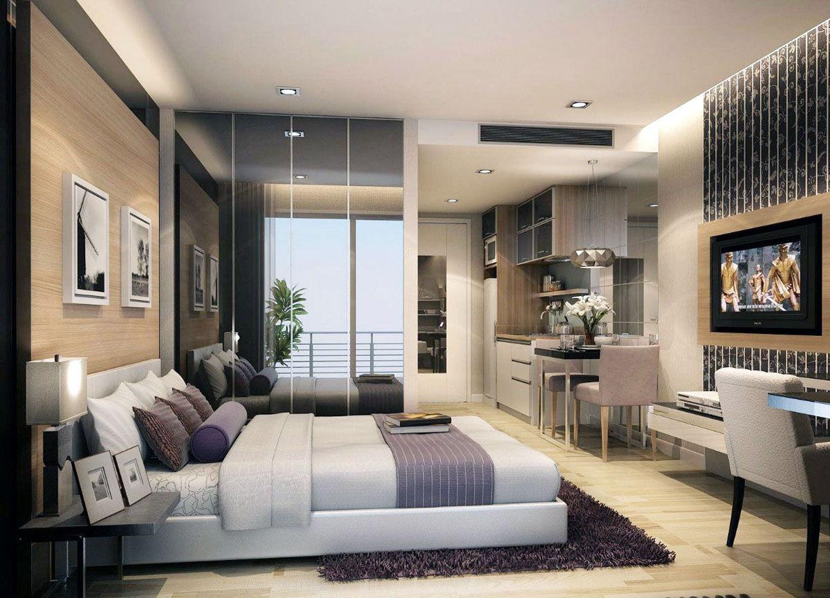 Студия 25 кв м дизайн жилая
