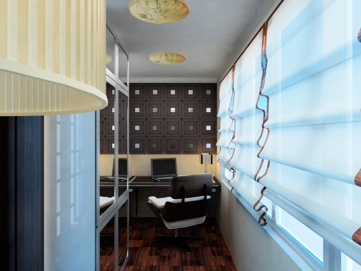 Дизайн кабинета на балконе (51 фото): примеры дизайна спальн.